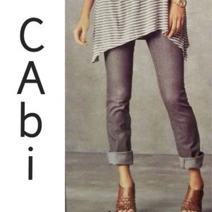 Cabi # 332 Grey Lou Lou Mid Rise Jeans Size 6